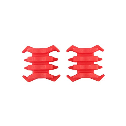ZERIRA 1 Pair Compound Bow Stabilizer Archery Rubber Bow Limbs Vibration Damper Archery Bow Accessory Crab-Shaped Composite Shock Absorber Muffler (Red)