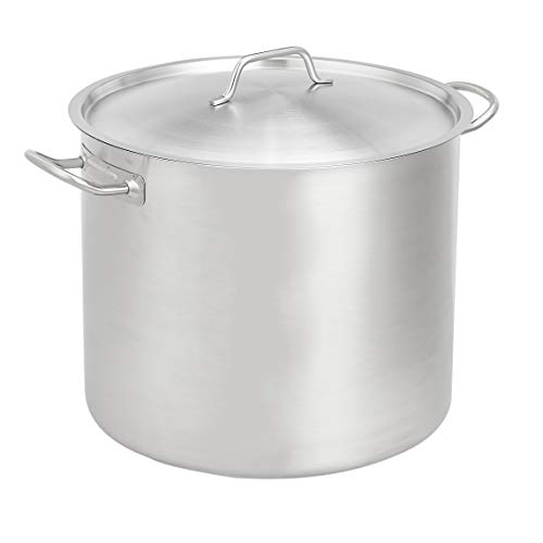 AmazonCommercial 10 Qt. Stainless Steel Aluminum-Clad Stock Pot with Cover