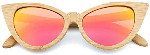 GODYS Natürliche Bambus-Sonnenbrille Bambus polarisierte Sonnenbrille Herren UV400 Damenbrille-C