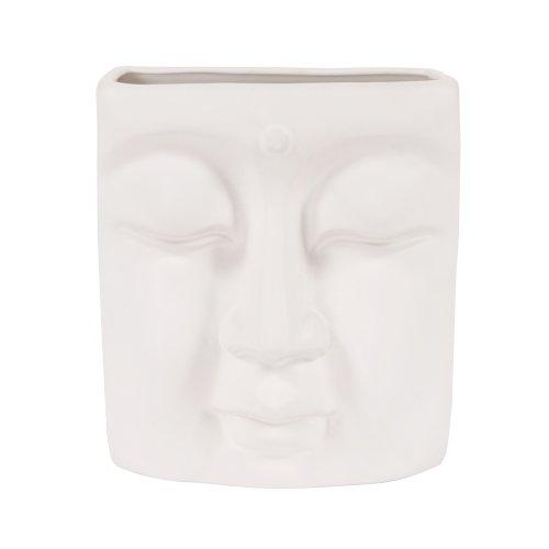 Howard Elliott 34092 Peaceful Buddha Wall Vase, Eggshell White