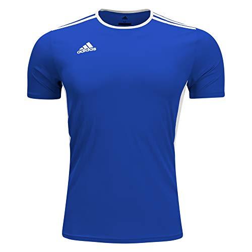 adidas Boys Estro 12 Soccer Jersey T-Shirt Cobalt/White Size Youth