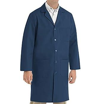 Red Kap Men s Exterior Pocket Original Lab Coat Navy 44