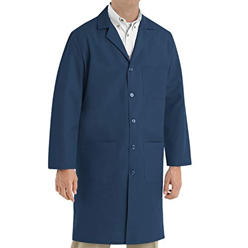 Red Kap Men's Exterior Pocket Original Lab Coat, Navy, 44