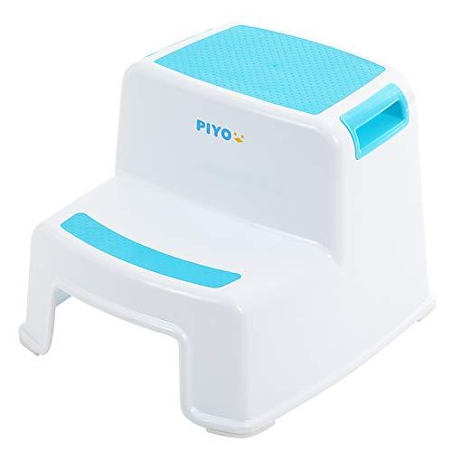 ピヨ(PIYO) 踏み台 子供 子ども 2段 ステップ台 幼児 こども トイレ おしゃれ (ブルー)