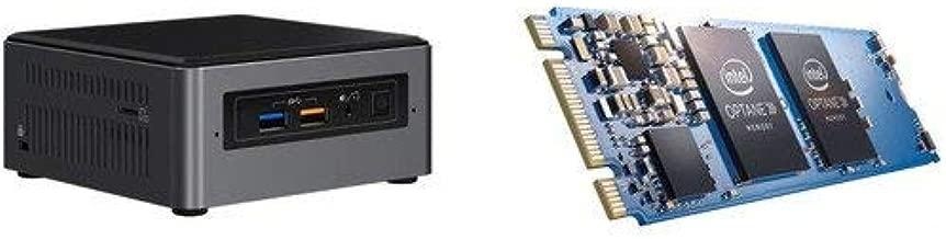 Intel NUC7i3BNHX1 Mini PC/HTPC, Intel Core i3-7100U 2.4GHz, 16GB DDR4, 256GB SSD + 16GB Intel Optane m.2 Drive, Windows 10 Pro, WiFi, Bluetooth, 4k Support (16GB RAM + 256GB SSD + 16GB Intel Optane)