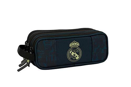 Real Madrid CF 811934635 Estuche, Niños Unisex, Negro