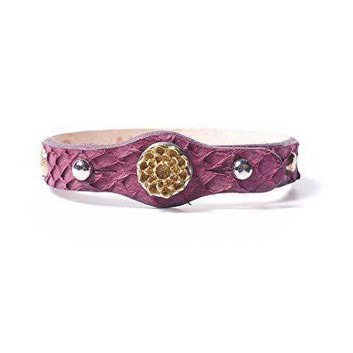 Noosa PETITE Armband OSHUN PROTECTION bordeaux - ohne Chunk Größe S