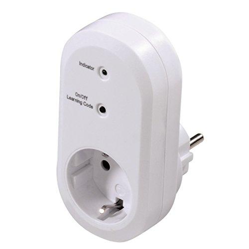 Hama Funksteckdose dimmbar (Erweiterung zum Set, 40 - 300 Watt, 30 m Reichweite, mit Kindersicherung) weiß