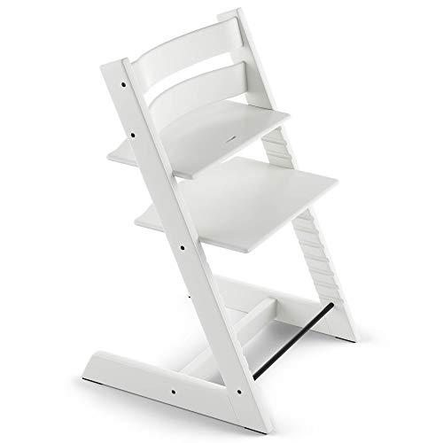 Tripp Trapp Chaise Haute – Chaise haute avec dossier pour bébé ergonomique et évolutive pour toute la vie – Couleur: Blanc