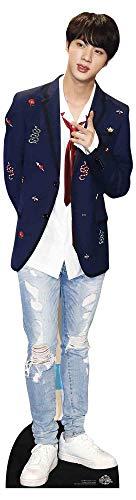 Star Cutouts Ltd CS900 BTS Bangtan Boys czerwony krawat Kim_Seok_Jin (Star Mini) 90 cm wysokości, wielokolorowy