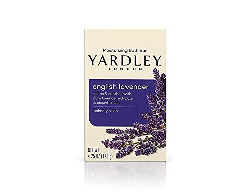 Yardley Naturally Moisturizing Bath Bar 4.25 oz ea, English Lavender, 4 Pack by Yardley