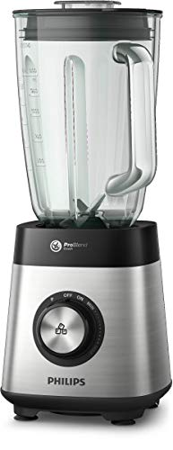 Philips ProBlend 5000 Series for Blending Smoothies/Hot Soup/Steamed Vegetables, Includes Blender Cup & 2L Pitcher, 1000W, Silver, HR3573/92