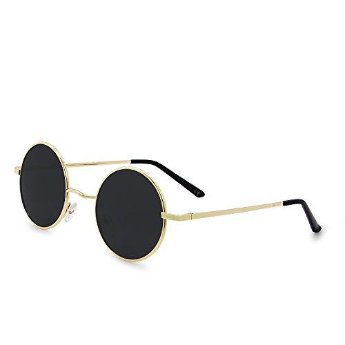 AMZTM Retro Gafas De Sol Steampunk Clásico Vintage Moda Metal Frame R