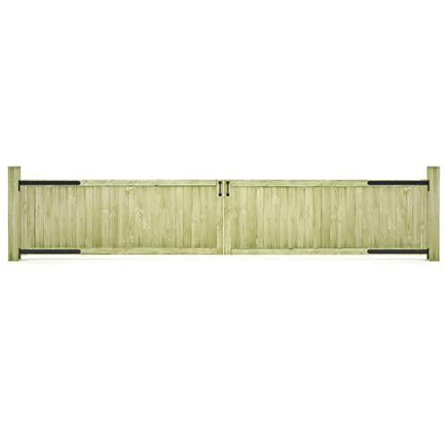 Tuinpoorten 2 stuks FSC Geïmpregneerd grenenhout 400x75 cm Hardware Hekwerk & Barrières Poorten