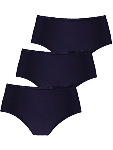 Pompadour Damen Taillenslip 3er Pack, 7738-015, 46, Blau