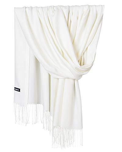 sciarpa bianca YAOMEI Unisex Donna Sciarpa