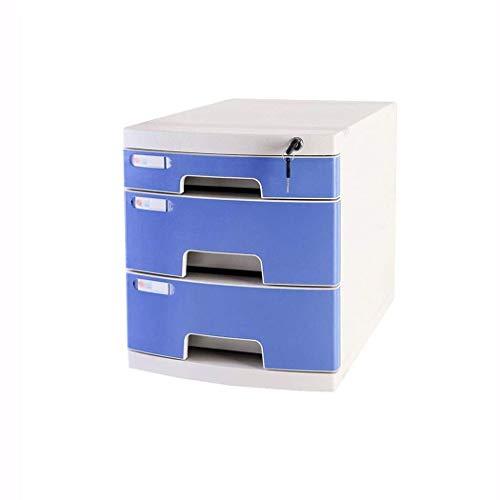 Ordner met lade, voor kantoor, afsluitbaar, voor opslag van gegevens, vertrouwelijke gegevens, lade, organizer, klein, wit, plastic etiket, 29,5 x 39,4 x 32,5 cm. A1