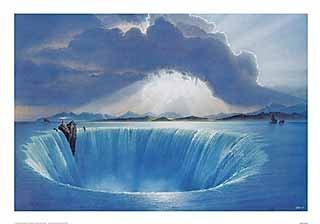Kunstdruck/Poster: Hans-Werner SAHM Leuchtfeuer - hochwertiger Druck, Bild, Kunstposter, 100x70 cm
