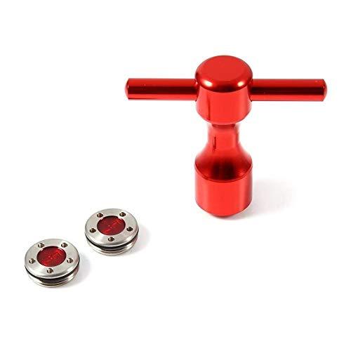YYDZ 2 stücke 25-40g Red Golf Putter Gewichte + Golf Schraubenschlüssel Werkzeug Für Scotty Cameron Putter (Size : 40g)