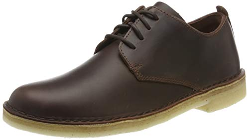 Clarks Desert London, Scarpe Stringate Derby Bambina, Marrone (Chestnut Leather Chestnut Leather), 35.5 EU