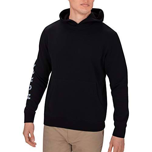 Hurley M BURN BABY FLEECE PULLOVER Sweat-Shirt Homme Noir FR : S (Taille Fabricant : S)