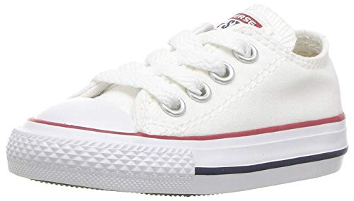 Converse All Star OX 7J237 - Zapatillas de tela para Niños, Blanco, 21 EU
