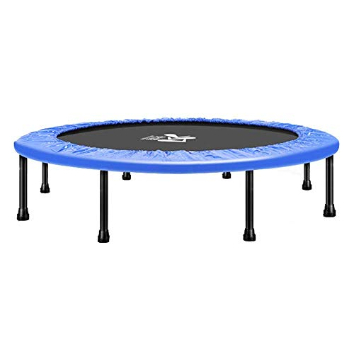 LNNZPL Trampoline 38-Inch Folding Mini Fitness Trampoline Aerobic Exercise pink trampoline,trampoline net Safe and durable products (Color : Blue)