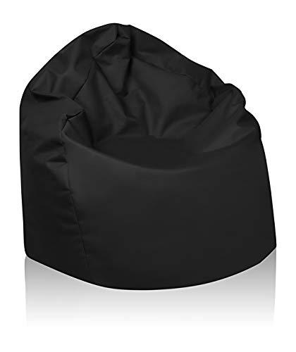 B58-Berlin Sitzsack XL Bag Sitzkissen Bodenkissen Kissen Sack In-und Outdoor 15 Farben (Schwarz)