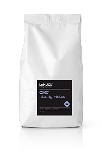 CMC, niedrig viskos - 25 kg, Pulver, Fondant, Lebensmittelkleber, Molekularküche, Haftpulver, Carboxymethylcellulose, E466, vegan, höchste Qualität