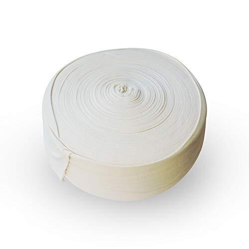 HealthGoodsIn - Espinillera tubular de punto de algodón, no estéril, sin blanquear, material que absorbe la humedad, duradera y suave para fundición, férula y soporte para uso en clínicas