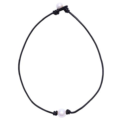 Cuero Cuerda Clavícula Collar De Cadena Hecha a Mano Falso Joyería Gargantilla Collar De Perlas De La Mujer