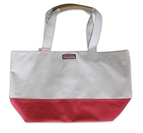 Vineyard Vines Canvas Tote Bag Extra Large Cuckoo Red Khaki 2N000026-667 XL 12.9' x 21.6'