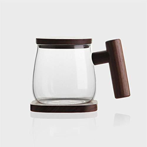 Copas De Champán, Tazas, Regalos Taza De Café Creativa Filtro De Separación Taza De Té Base De Madera Transparente Con Tapa Vaso De Whisky Botella De Agua De Vino Taza Para Vasos