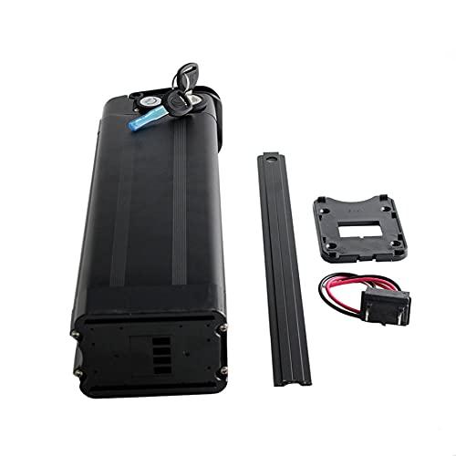 Ebike Battery 48V 15AH batería de litio plegable batería de repuesto para bicicleta eléctrica con cargador de 2A bloqueable para 1000W 800W 750W 500W 350W 250W Motor de bicicletas eléctricas