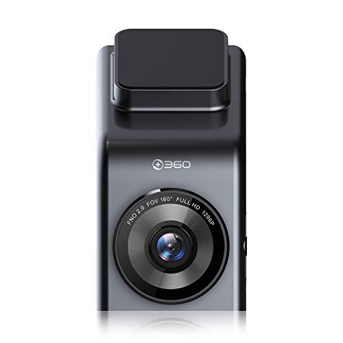 360 G300H Premium Video de la cámara del Coche dashcam Lleno HD 1296P con 160 ° Lente Gran Angular, Visión Nocturna en Color, detección Movimiento, Monitor Coche, grabación en Bucle,G-Sensor.