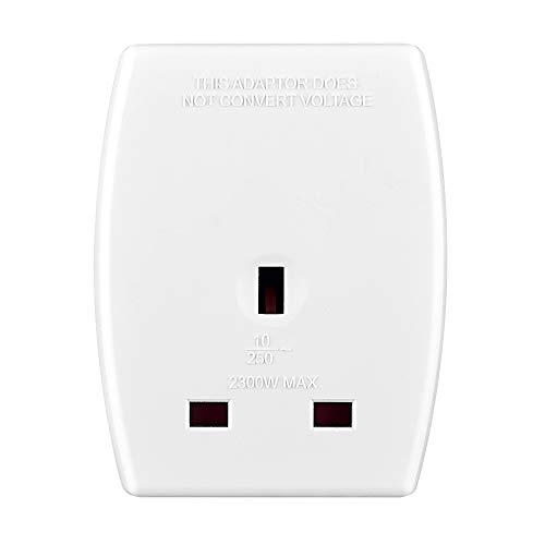 Amazon Basics UK to Australia and China Travel Adaptor with Two USB Charging Ports, White