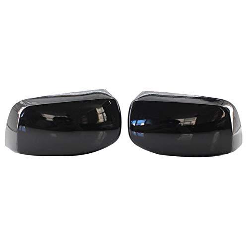 DJQNB Cubierta de Espejo, Portas de Puerta Negra Brillante para E60 E61 E63 E64 5/6 Series 2003-2010