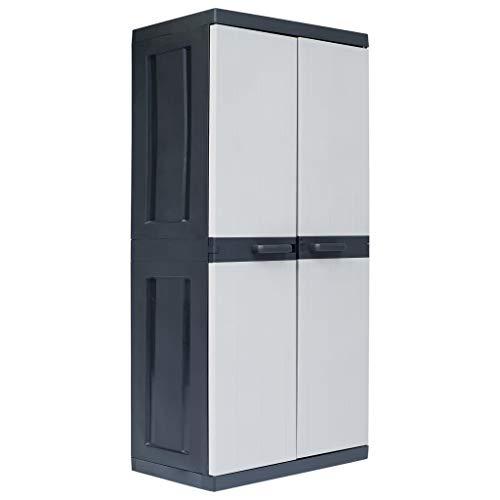 Outdoor Storage Shed, Storage Cabinet Tool Shed Organizer Garden Storage Cabinet XXL 35'x21.3'x74.8' Plastic
