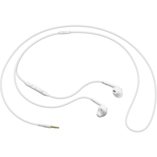 Samsung BT-EOEG920BW - Auriculares in-ear oficiales para Galaxy S6 (micrófono, 3.5 mm, cable de 1.2 m), color blanco- Version española