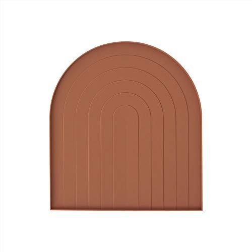 OYOY Living Design – Bandeja escurreplatos – Terracota marrón – 100% silicona lavable – Compatible con escurreplatos OYOY (10813) – L10174