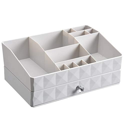 ZYM Organizador de Maquillaje - Caja de vanidad con cajones for la joyería de cosméticos Esenciales de Cuidado de uñas, artículos for el Cuidado de la Piel for Almacenamiento y visualización