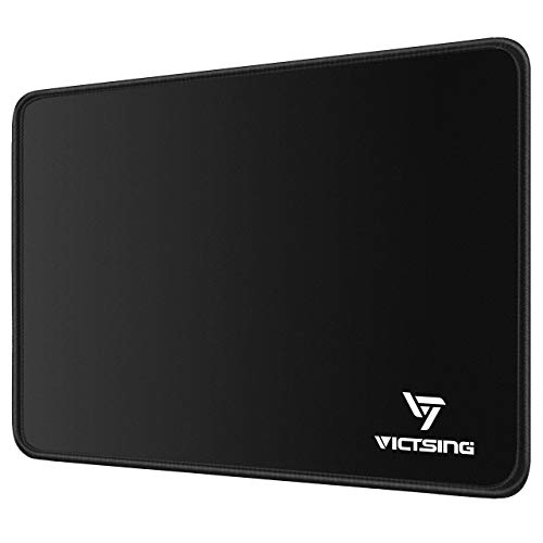 VicTsing Mouse Pad with Stitched Edge PremiumTextured Mouse Mat NonSlip Rubber Base Mousepad for Laptop Computer amp PC 102×83×008 inches Black