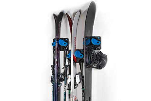 Gravity Grabber - The Ultimate Ski + Snowboard Wall Storage Rack   Save Your Rocker, Tips, and Tails   Damage-Free Ski/Snowboard Storage Rack   Fits any Ski or Snowboard   Ski/Board Wall Storage (3)