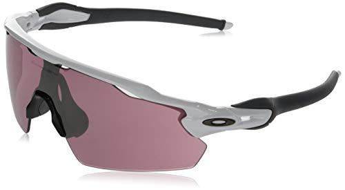 Oakley Men's OO9211 Radar EV Pitch Shield Sunglasses, Polished White/Prizm Dark Golf, 38 mm