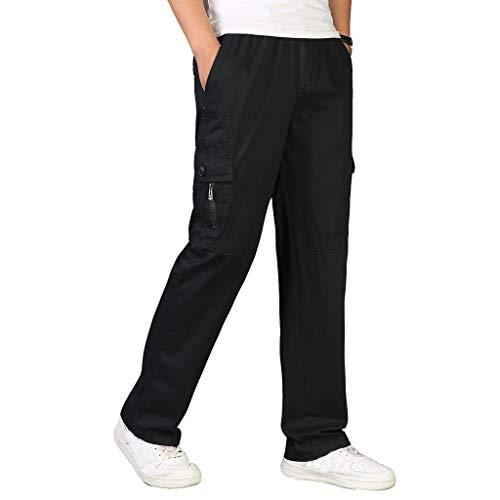 Pantalones para Hombre,Tallas Grandes Suelto Pantalones Casuales Moda Trabajo Pantalones Jogging Pants...