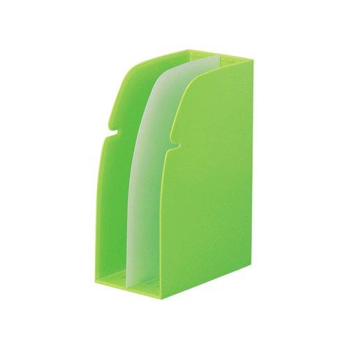 リヒトラブ ホルダースタンド ブックエンド A4 黄緑 G1630-6