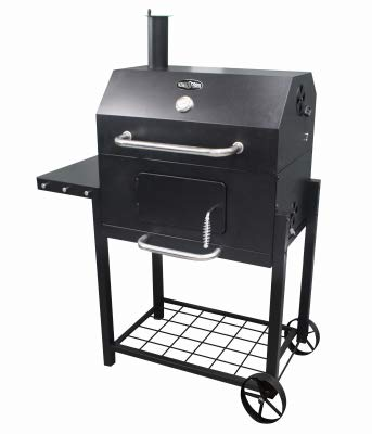 Buy Discount RANKAM (CHINA) MFG CO LTD Deluxe Charcoal Cart Grill, Black