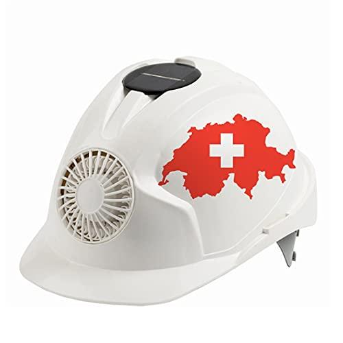 KLMM Suiza Casco de Seguridad al Aire Libre con Ventilador de enfriamiento Construcción de Seguridad Solar de protección Solar Ciclismo Tapa Protectora (Color : White1)