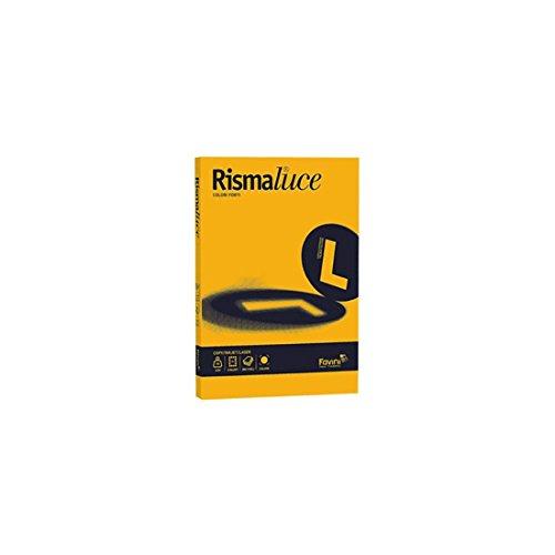 Favini A67H104 Cartoncino Rismaluce - A4 200 g/mq - giallo oro - conf. 125, giallo oro 52