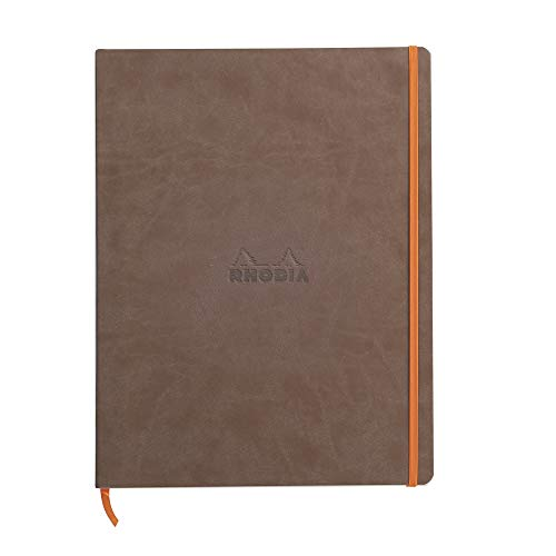 Rhodia A4+ Notebook, Lined, Chocolate